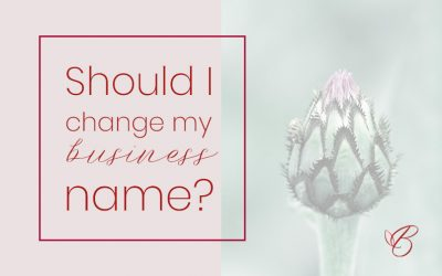 Should you change your business name when you rebrand?