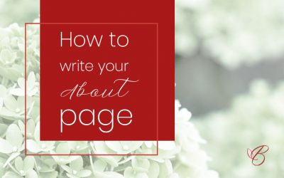 How to write your About page